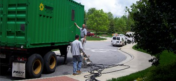 Staging a Temporary Generator for a Major Project
